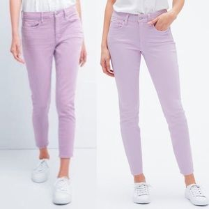 New GAP Mid Rise True Skinny Ankle Jeans in lilac